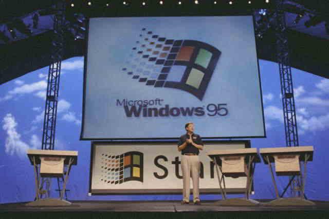 Lanzamiento de Windows 95.