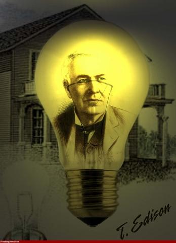 Thomas Edison perfects Lightbulb