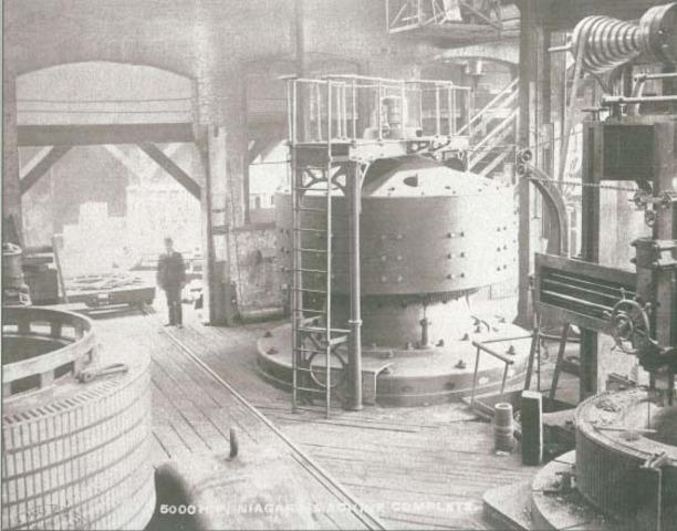 Westinghouse creates 1st AC power plant at Niagara Falls