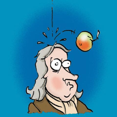 Sir Issac Newton defines laws of gravity