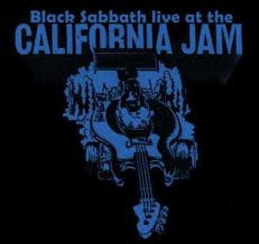 Black Sabbath performs at the first California Jam in June 1974