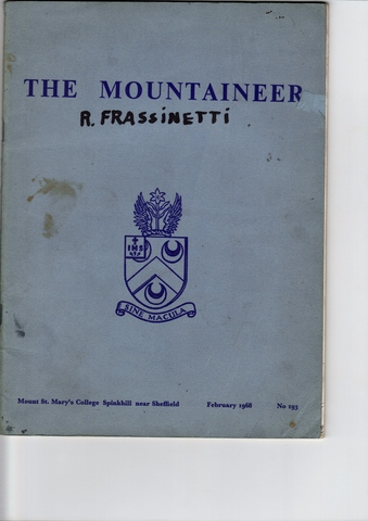 Bob Frassinetti at Mount Saint Mary's College, Sounkhill, UK