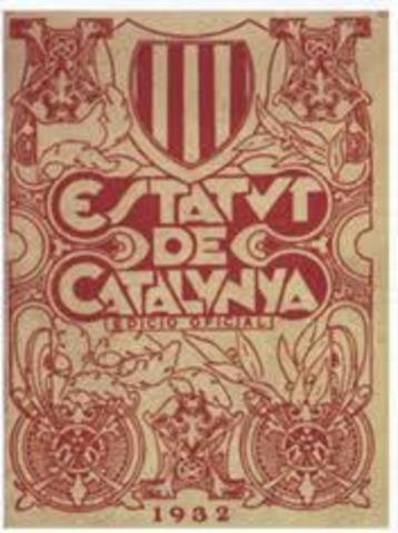 Aprobacion del estatuto de Cataluña.