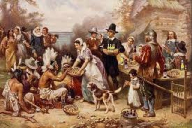 First Thanksgiving is Held