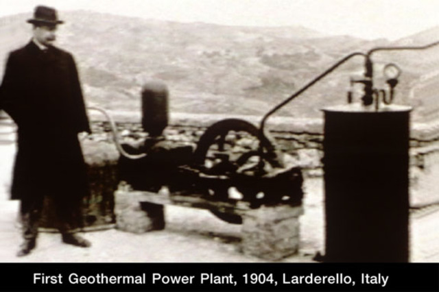 First Geothermal Power Plant 1921
