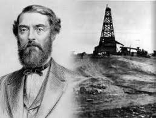 First commercial oil well drilled