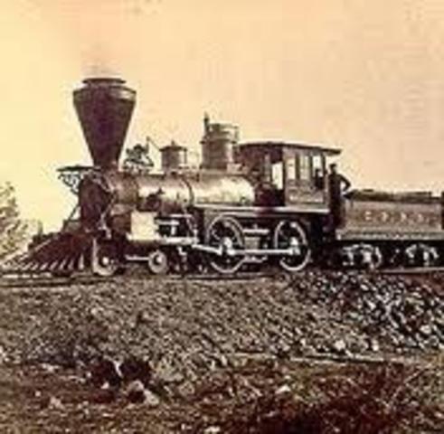 Richard Trevithick invents the steam locomotive (train)