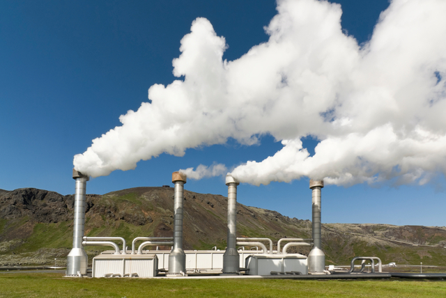 The first geothermal power plant is built.