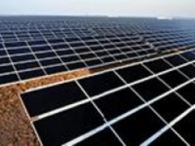 The first solar cell is created