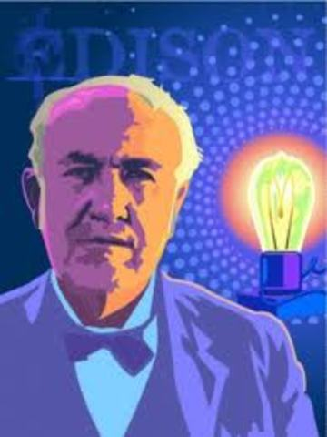 1879 - Thomas A. Edison invents the first electric light bulb.
