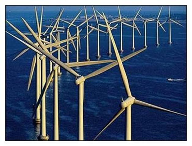 Wind turbines invented