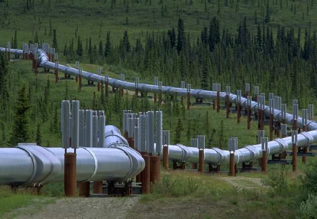 First natural pipeline built