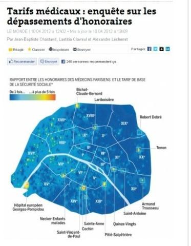 Le Monde Tarifs médicaux : enquête sur les dépassements d'honoraires