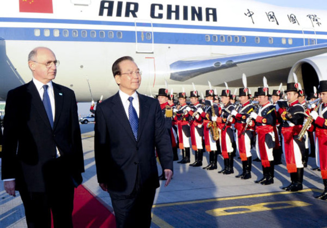 The Chinese premier said he expects to exchange views with the Argentine leaders on bilateral ties as well as on international and regional issues of common concern.