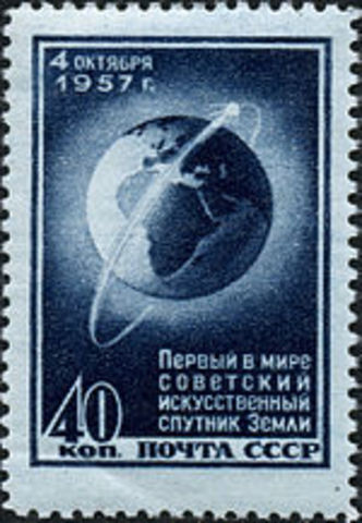 Sputnik was launched into space during the Cold War.