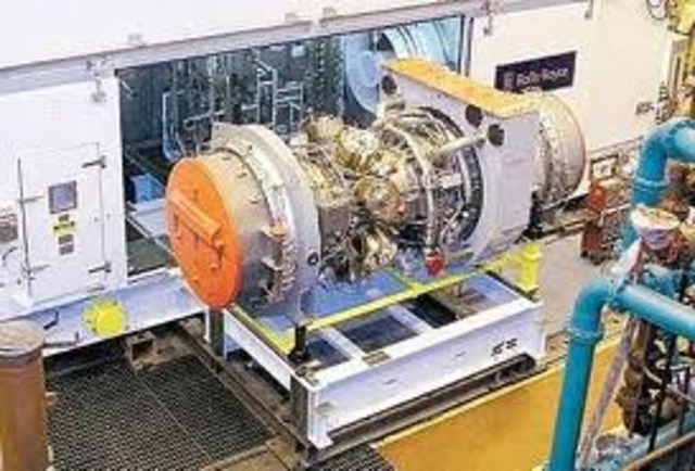 The first gas turbine