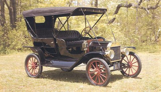 Henry Ford's Model T, runs on gas or ethanol, opens up travel in the US.