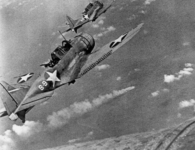 U.S. defeat Japanese at Battle of Midway