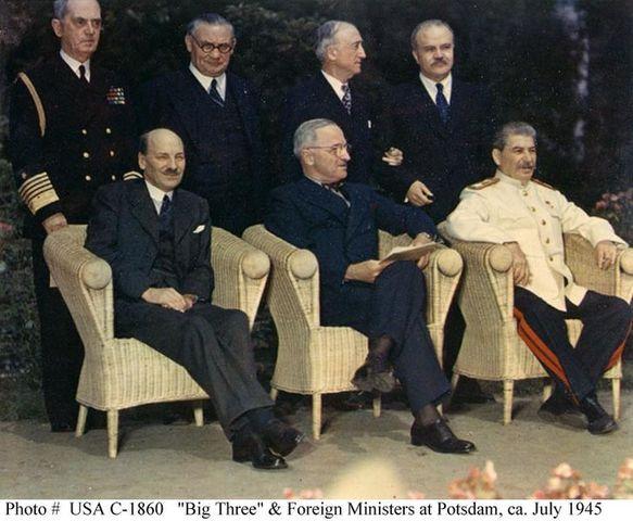 Truman meets Stalin at Potsdam
