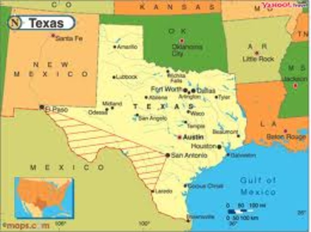 Spanish immigrants settled in present day Texas and New Mexico