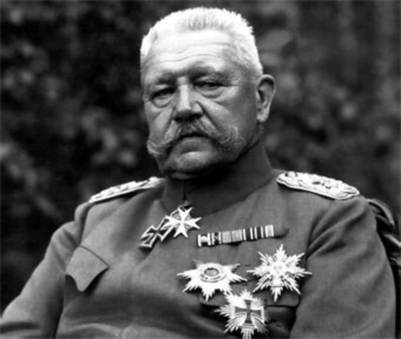 German president Hindenburg died