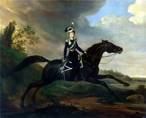 Франц Крюгер. Портрет Великого принца Александра Николаевича.