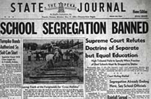 Brown v. the Board of Education of Topeka