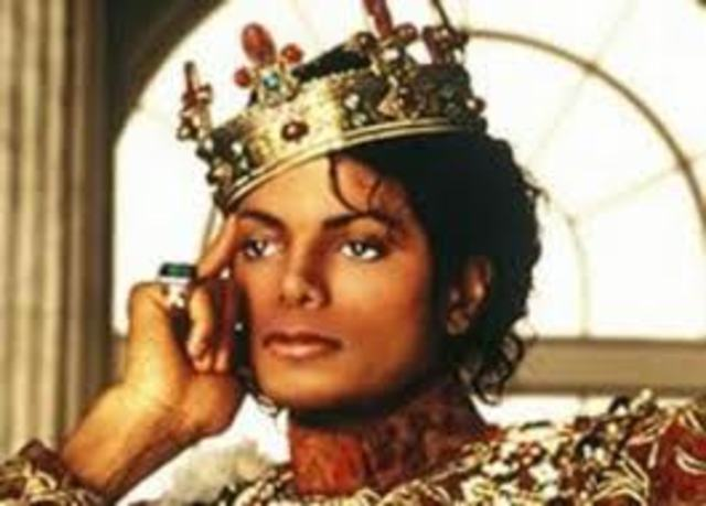Micheal Jackson Became a dominant figure.