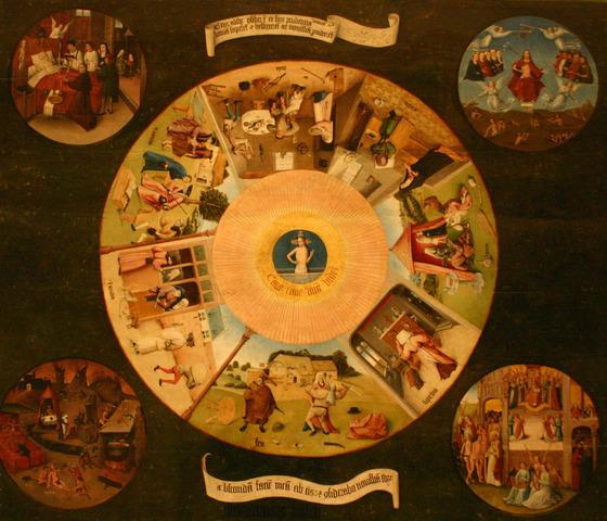 La Mesa de los Pecados Capitales, de El Bosco