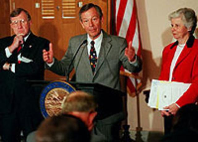 Ohio Governor George Voinovich renounces Ruling