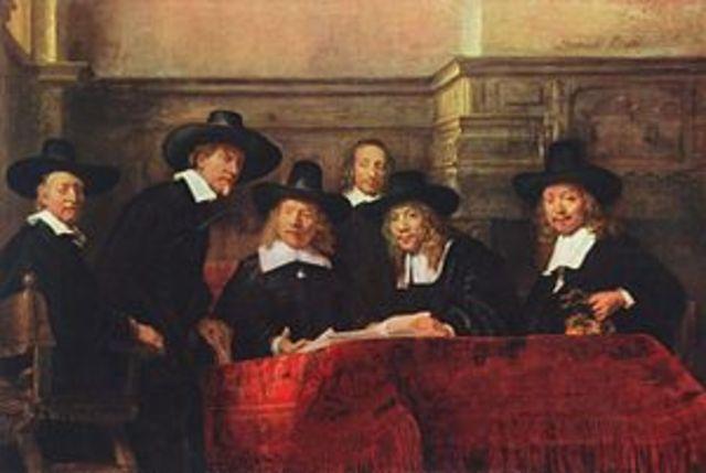 Los síndicos de los pañeros de Rembrandt