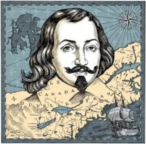 Samuel de Champlain is comissioned by France to sail to the settlement of Quebec