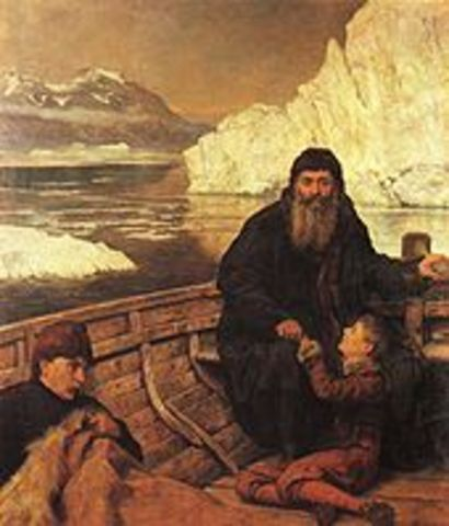 Henry Hudson explores Hudson Bay and is set adrift by a mutinous crew and dies.
