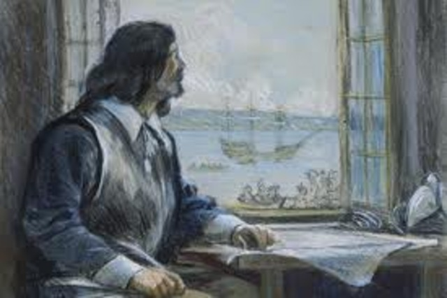 Samuel de Champlain is named the Governor of New France