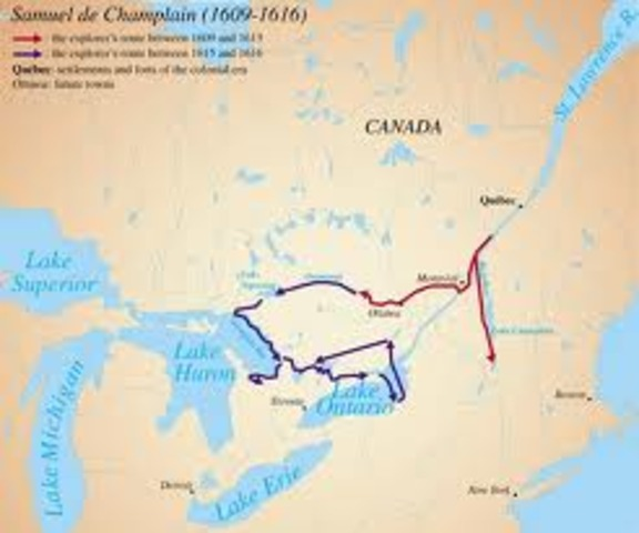 Champlain discovers the Great Lakes