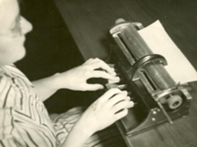 First Braille typewriter invented