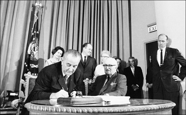 Medicare and Medicaid signed into law