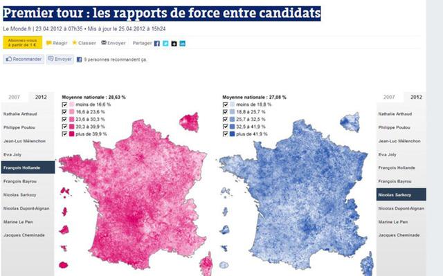 Le Monde.fr Présidentielle 2012 Premier tour : les rapports de force entre candidats
