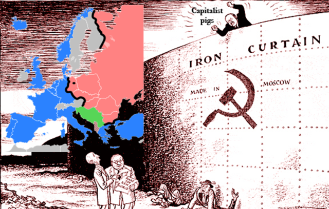 "Winston Churchill announces the ""Iron Curtain"" (VUS.13b)"