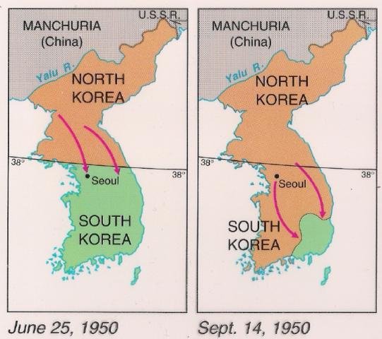 North Korea invades South Korea (VUS.13b)