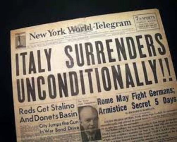 Italy surrenders