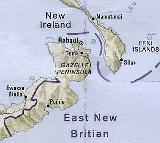 Japanese invade Rabaul, East New Britain, Papua New Guinea