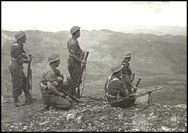 First contact between Australian and Japanese troops at Awala