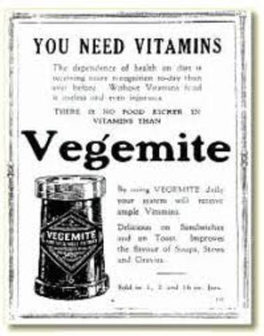 When was Vegemite invented?