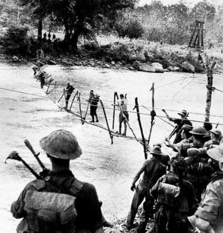 Australian troops reach the Kumusi river