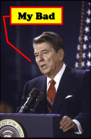 Reagan Apologizes