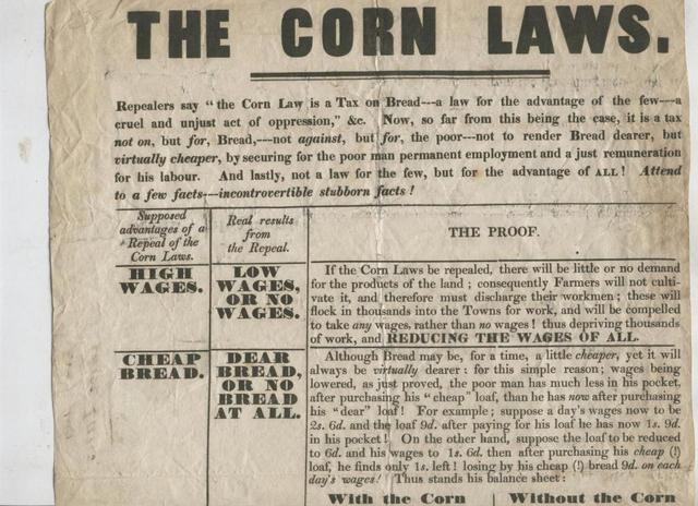 The British House of Lords Repeals the Corn Laws (Eastern Canada)