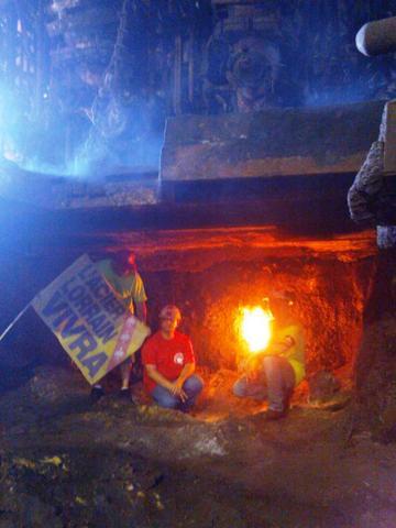 Florange - Hayange : Allumage de la flamme de l'Espoir