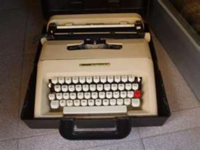 Mí primera máquina de escribir