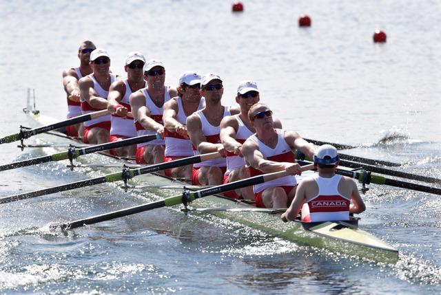 Men's 8 rowers place last in heat